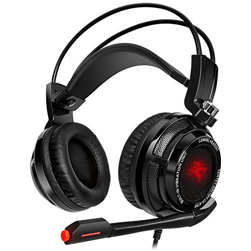 Sentey® Gaming Headset Virtual 7.1 USB DAC Arches with Vibration Intelligent 4d Extreme Bass – Gaming Headphones Headset with In-line Control – Lightweight Headsets – Computer Gaming Headset with Headband Adaptive Comfort – Computer Headset with Microphone for Pc – Computer Headset Gaming with USB 2.0 Connector Supported Skype Headset – Gaming Headphone with Digital Surround Sound 7.1 with Pc Gaming Headset with Full Braided Cable 2 Meters ## 2015 ## Best Gaming Headset Pc Headset – Headset…