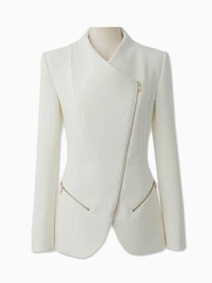 Zipped Blazer in White