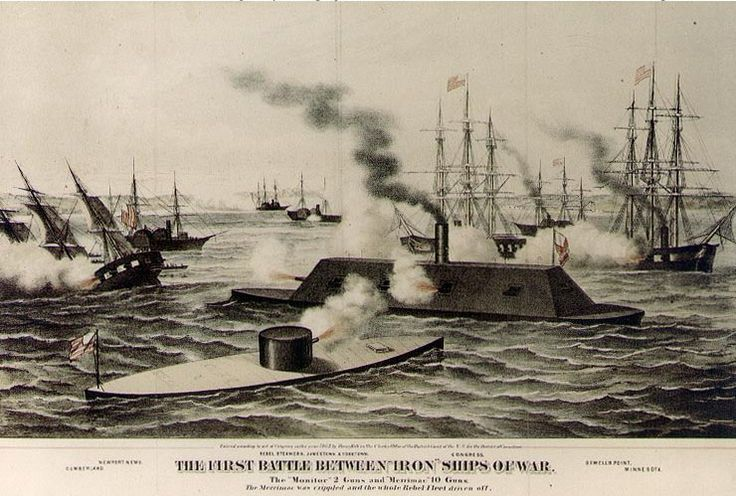 Ironclad Naval Battle CSS Virginia vs the USS Monitor
