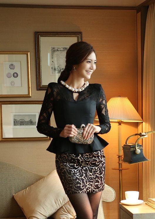 Korean Office Lady Dress http://en.thejamy.com/goods.php?id=149116
