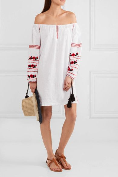 Sensi Studio. White cotton Slips on 100% cotton Hand wash These pieces are hand-embroidered and therefore may differ from that pictured Imported