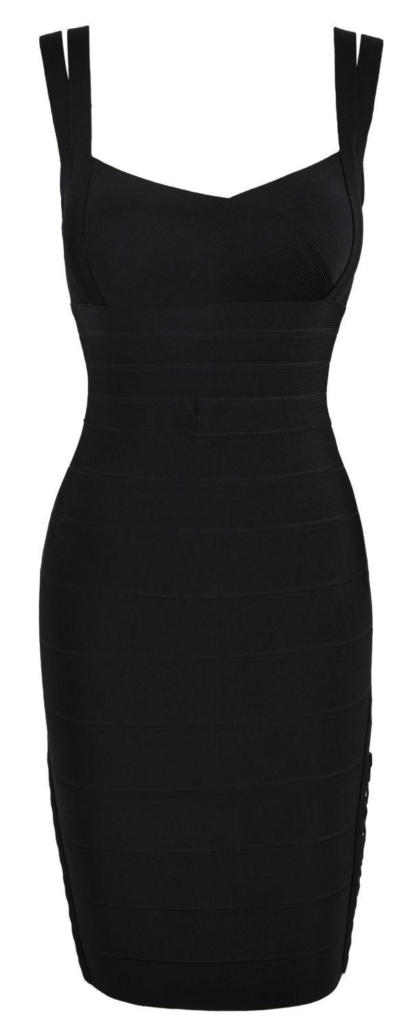 'Bordello' Lace Up Black Bodycon Dress. To be worn with serious stompy platform goth boots, fishnets, and an exaggerated pomp/ponytail combo.