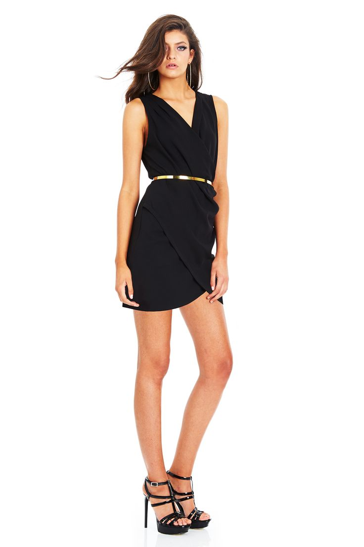 NEW MOON DRAPE DRESS - Black #nookie #shesgotthelook #lovenookie