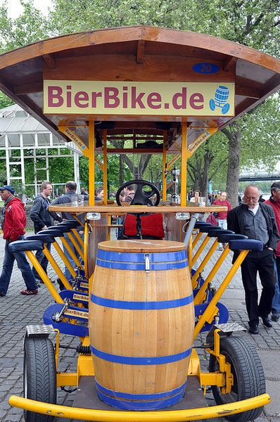 Why don't we see this cruising down teh boardwalk here in Jersey?   Cologne (Germany), and the Beer Bike this is so much fun to do, we had a blast!  - find great German products @ www.germanfoodusa.com