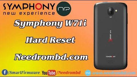Symphony W71i Hard reset done without box | Smartphone
