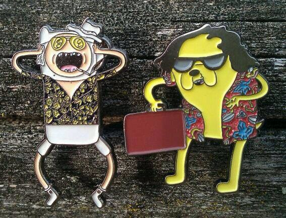 Adventure Time Fear and Loathing Finn and Jake di PinsAndNeedlesMN, $23.00