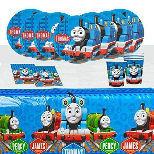 Thomas the Tanke Engine Trains birthday Tableware Pack for 16