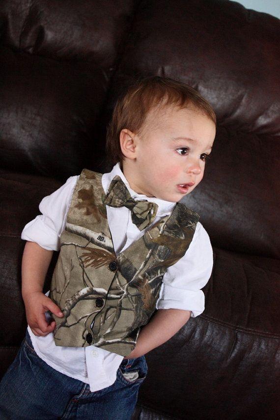 Boys vest... be so cute on little eli! love the bow :)