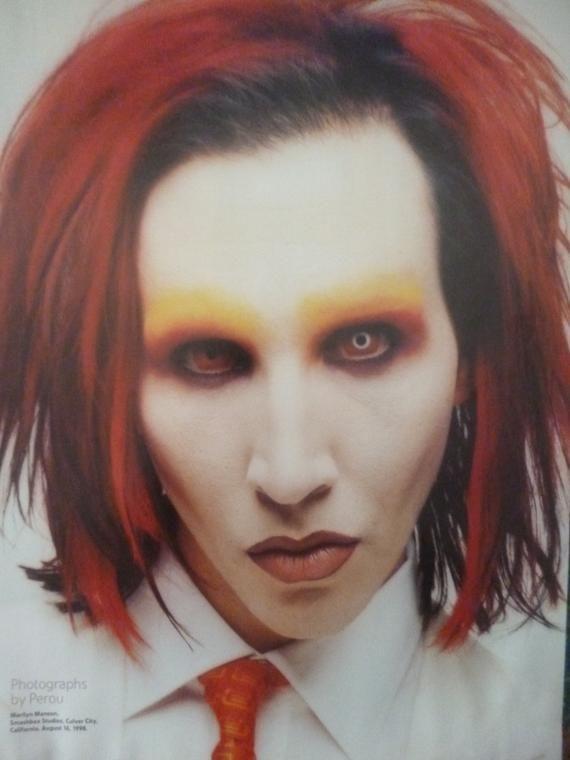 Marilyn Manson, Smashbox Studios, 1998 - Original A4 Press Poster