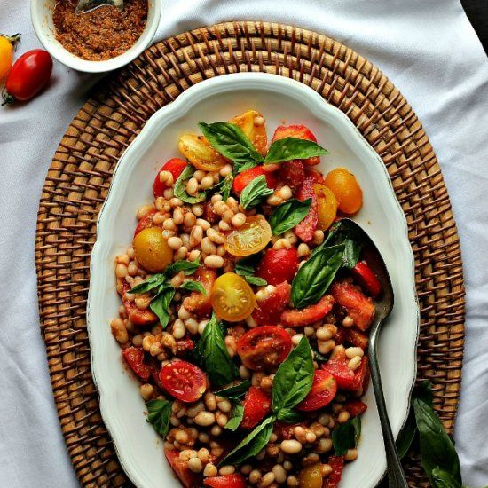 Tomato & White Bean Salad Provençal! Fresh, summery and sun kissed ...