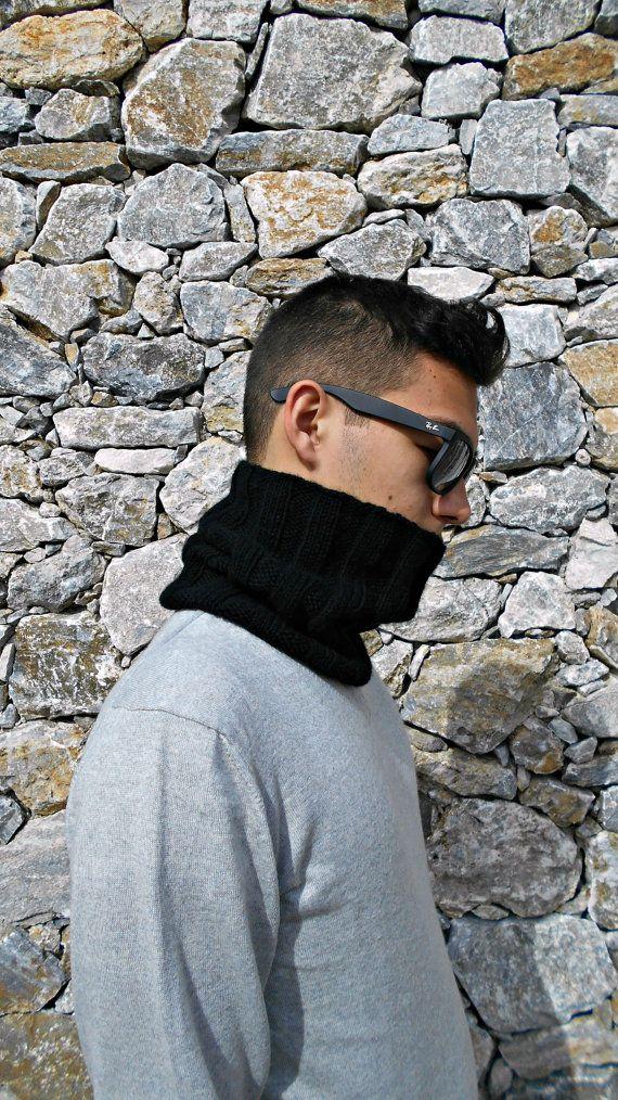 pure cashmere infinity loop scarf  unisex by LAlabastroCreazioni