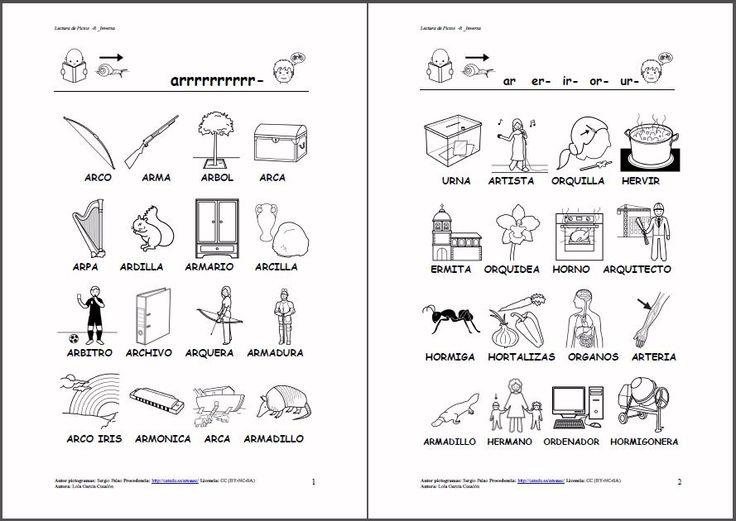 MATERIALES - Fonema/r/ inversa. Varias actividades y soportes para ...