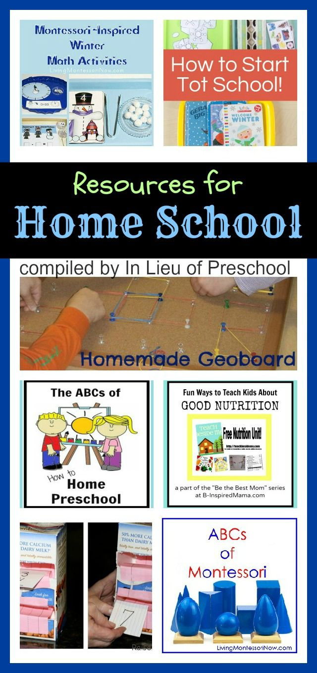Resources for Home School {In Lieu of Preschool} ...I think I just found my new favorite site. She's soooo creative!