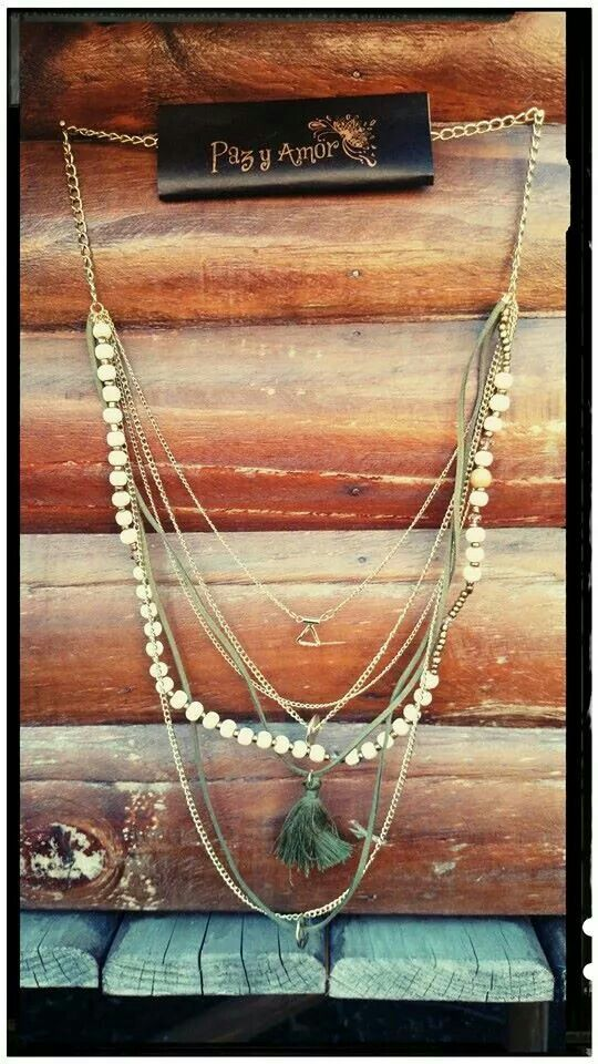 Collar hippie madera ♡♥♡ full eclectic!