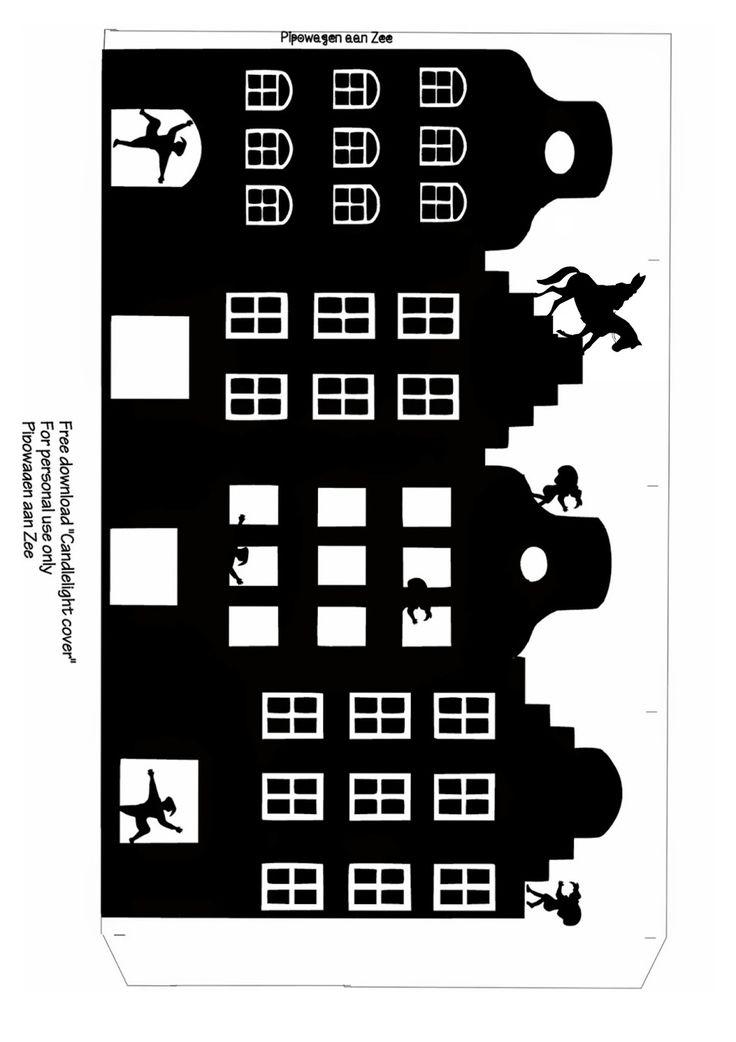 Pipowagen aan Zee: Tealight cover *Sinterklaas Lichtje*