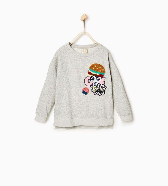 Sweatshirt remendos - Disponível em mais cores