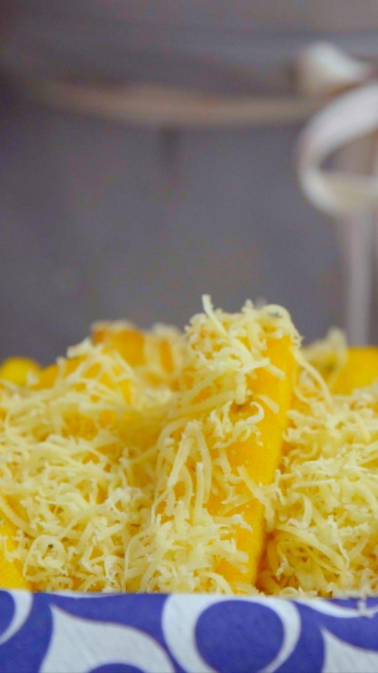 Polenta frita bem sequinha, crocante e gostosa para você se deliciar no fim de semana!