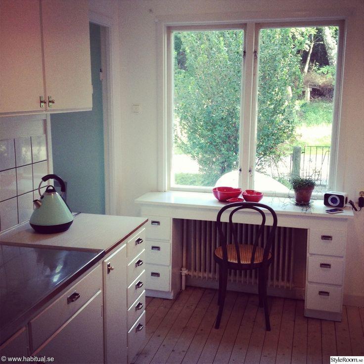 kök,köksrenovering,funkiskök,funkis,funkishus,thonetstol,platsbyggt skrivbord
