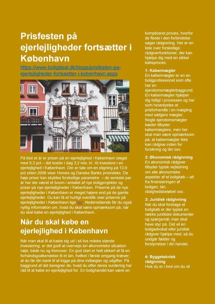 Prisen på ejerlejligheder i København stiger