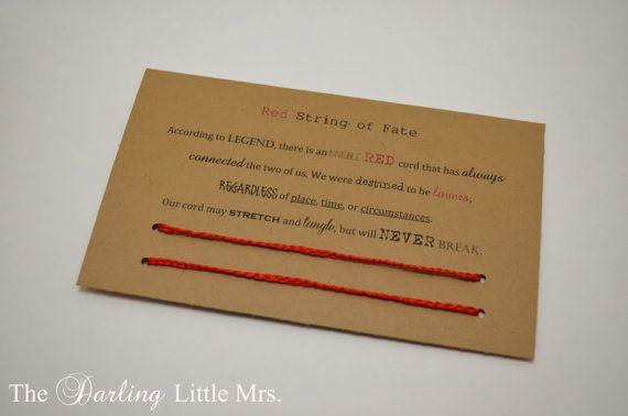 Red String of Fate Bracelets by TheDarlingLittleMrs on Etsy