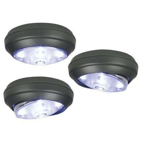 Rite Lite 3 Pack Gray Battery Powered Cordless LED Lights