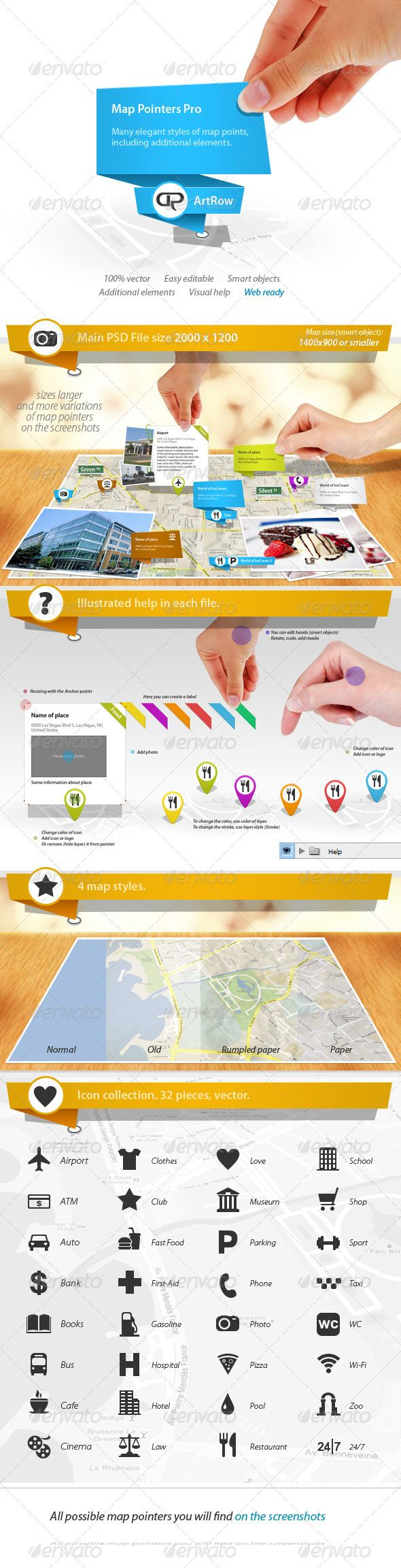 Map Pointers Pro - GraphicRiver Item for Sale