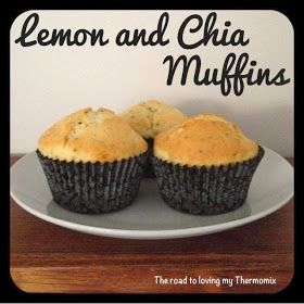 The road to loving my Thermomix: Lemon and Chia Muffins