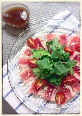 ガリぽんで☆赤身魚たたきのカルパッチョ by すだゆう [クックパッド] 簡単おいしいみんなのレシピが248万品