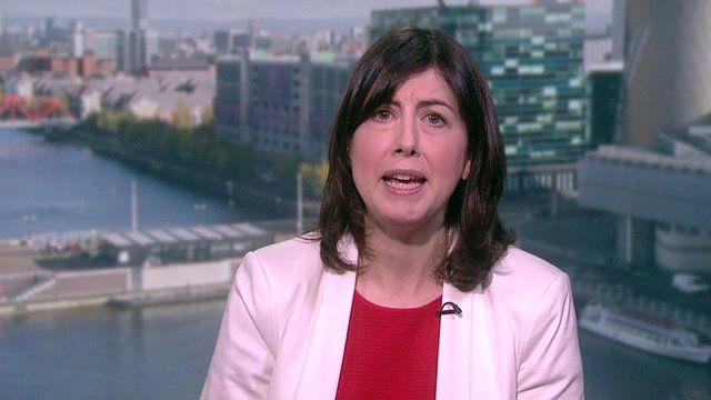 Labour campaign co-ordinator Lucy Powell accused presenter Andrew Neil of interrupting her as he questioned the party's deficit reduction plans.