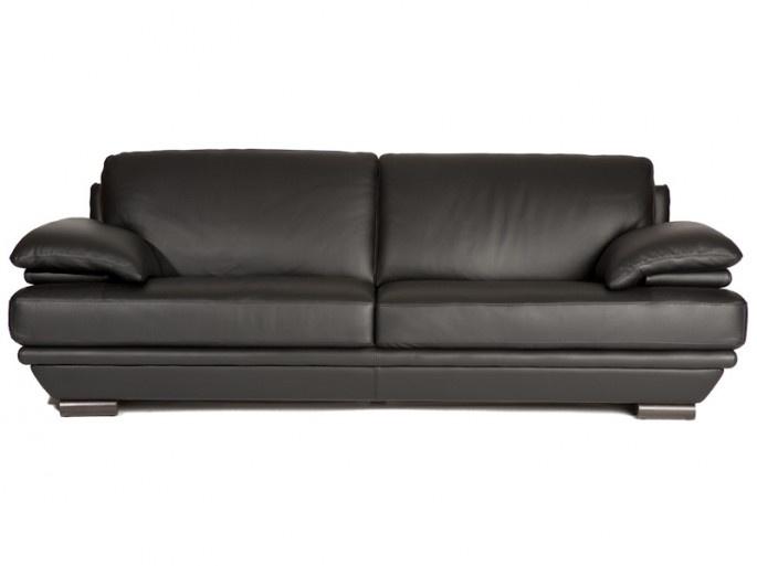 Natuzzi leather sofa... in white?