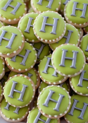 cute monogram cookies