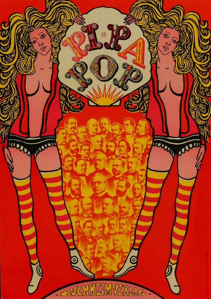 """Pipa Pop"" LOTHAR G. BUCHEIM - 1968, Germany."
