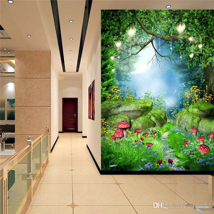 Charming Fairy Tale Wonderland Wall Mural Photo Wallpaper Background Wall  ROOM DECOR Nursery Sitting Room Bedroom