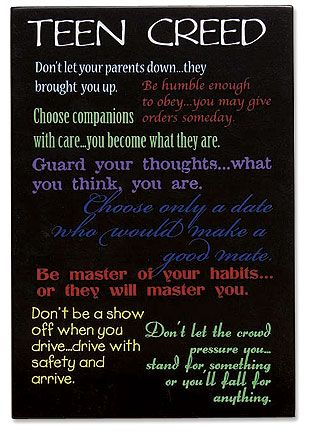 examples of a personal creed