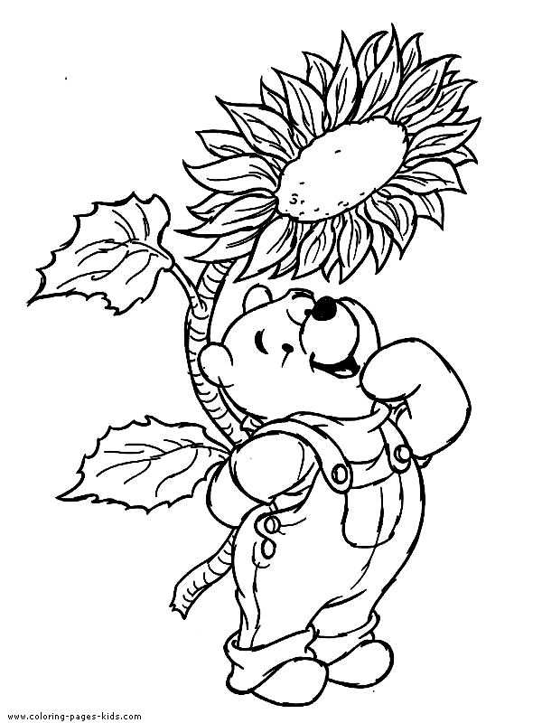 winnie the pooh color page disney coloring pages color plate coloring sheet - Pooh Bear Coloring Pages Birthday