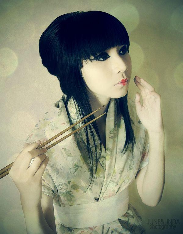 Me as japanese doll, halloween circa 2010.