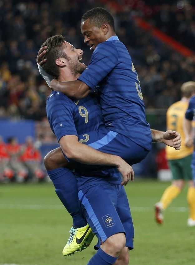 When this moment between him and Patrice Evra was more beautiful than that scene in The Notebook.   15 Times Olivier Giroud Loved Hugs More Than Anything