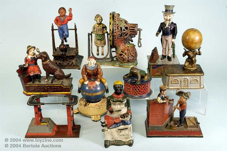 Best Antique Toys : Best images about cast iron banks on pinterest coins