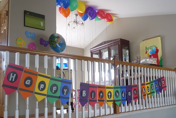 crayon+birthday+party+ideas | Crayon Birthday Banner