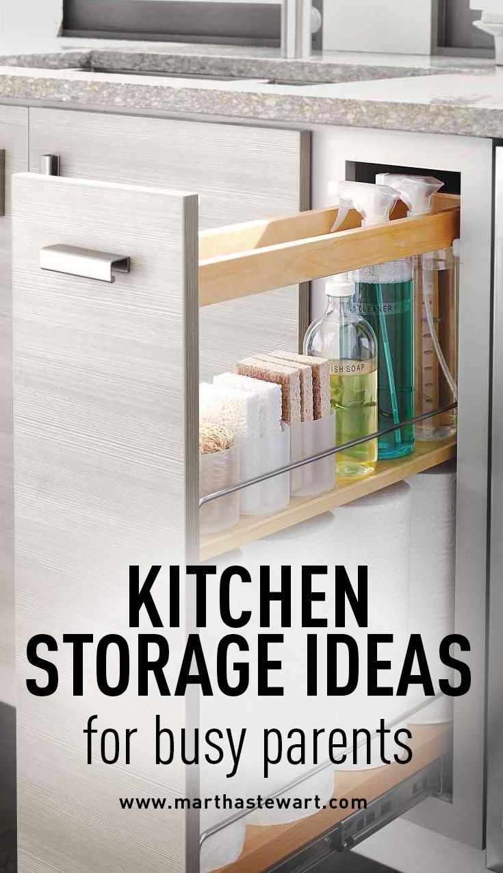 Kitchen Storage Ideas for Busy Parents | Martha Stewart Living - For families constantly juggling busy schedules, simple things like a well-organized kitchen can make all the difference in creating efficient meal prep and family time. Here's how to keep your cooking space in check.