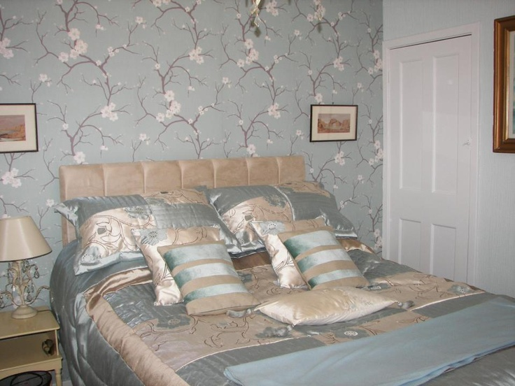 Blossom Soft Jade  Feature Wallpaper by Dulux