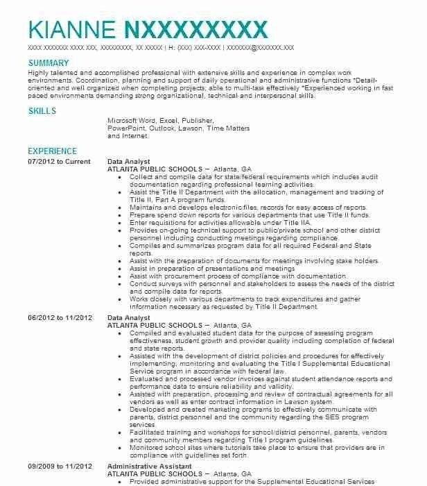 Data Analyst Resume Template Premium Resume Samples Example Data Analyst Resume Resume Profile Data Analyst