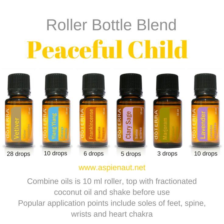 peaceful child recipe diy essential oils doterra roller bottle blend clary sage vetiver lavender frankincense marjoram ylang ylang