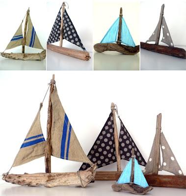 bateau avec morceau de bois Plus