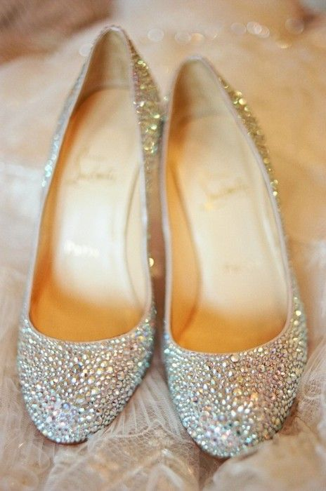 Christian Louboutin Flats- Perfect for the bride who wants elegance and sparkle but without the big heel!