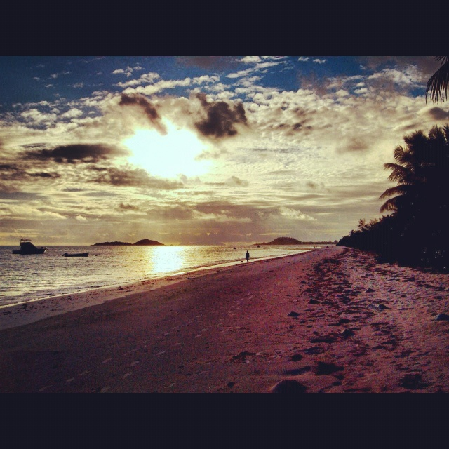 Diego Garcia Sunset and one day i will make it here too :)