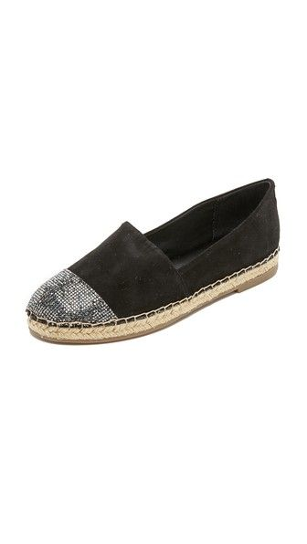 KENDALL + KYLIE Corey Slip On Espadrilles in Black - $89