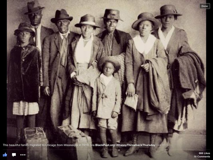 Black Family migrated to Chicago from Mississippi, 1919