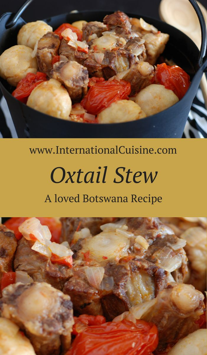 Cattle are a prized commodity in Botswana so they usually keep the lesser parts of the cow for themselves. However magic happens when you cook these parts until tender. This oxtail soup with dumplings is awesome. Get the easy recipe and enjoy!