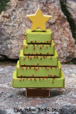 Two Yellow Birds Decor: 2x4 Christmas Tree